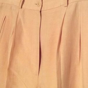 Morgan Taylor linen lined pants, pleated, …
